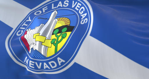 Flag of Las Vegas, city of United States of America - loop Animation