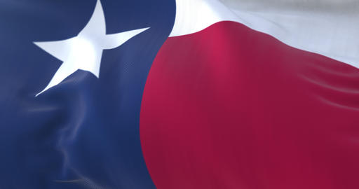 Flag of american state of Texas, region of the United States. Loop Animation