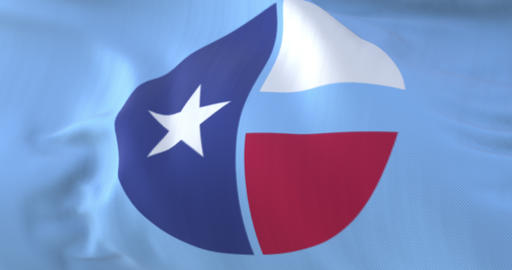 Flag of Collin county, state of Texas, United States - loop Animation