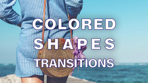 Colored Chapes Transitions Apple Motion Template