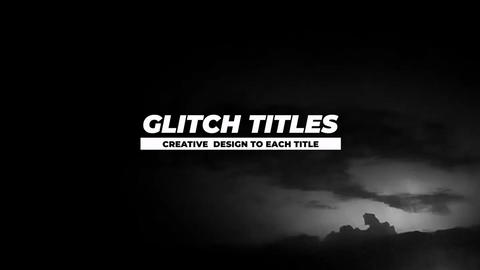 Auto Resize Glitch Titles Apple Motion Template