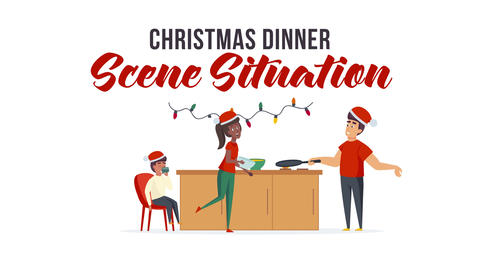 Christmas dinner - Scene Situation After Effects Template