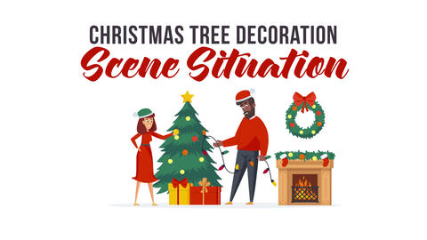 Christmas tree decoration - Scene Situation After Effects Template