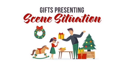 Gifts presenting - Scene Situation After Effects Template