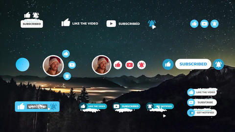 Social Media Snow Subscribers Apple Motion Template