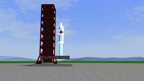 Coronavirus Vaccine Rocket Launch 60Fps Animation