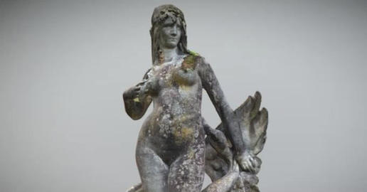 The woman and the swan 3D Model