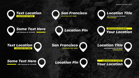 Location Titles After Effects Template