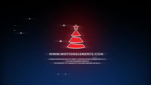 Christmas Glitch Logo After Effects Template