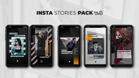 Insta Stories Pack v 8 After Effects Template
