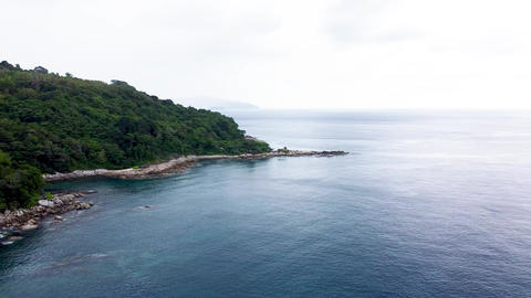 Aerial view of Freedom Beach in Phuket, Thailand Live Action