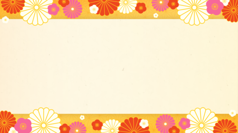 New Year's background material, Japanese paper, gold, decoration available Animation