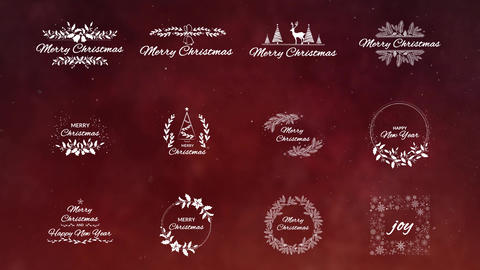 12 Christmas Titles After Effects Template