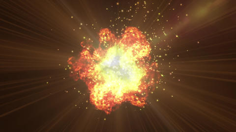 Explosion spark particle animation Animation