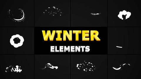 Snow Motion Elements After Effects Template
