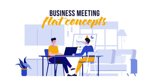 Business meeting - Flat Concept After Effects Template