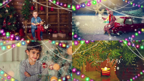 Magic Christmas Slideshow After Effects Template