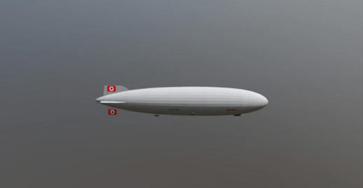 Hindenburg airship 3D Model
