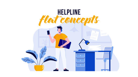 Helpline - Flat Concept After Effects Template