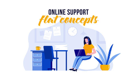 Online support - Flat Concept After Effects Template