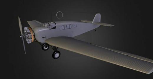 Junkers w 34 3D Model