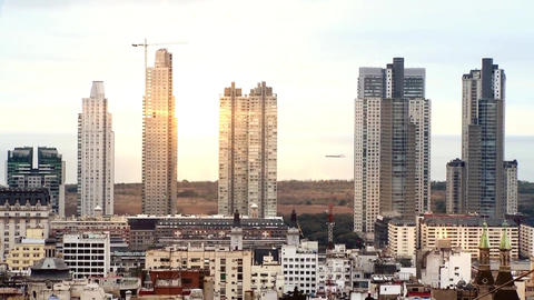 Skyscrapers of Buenos Aires at Dawn Footage