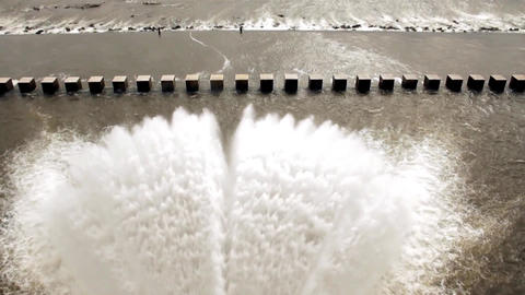 Dam Releasing Water Footage