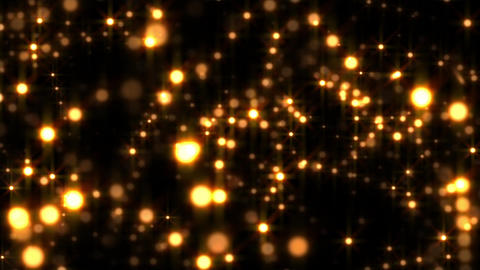 Golden Glow Globes Echo Abstract Particle Motion Background Loop 2 Animation