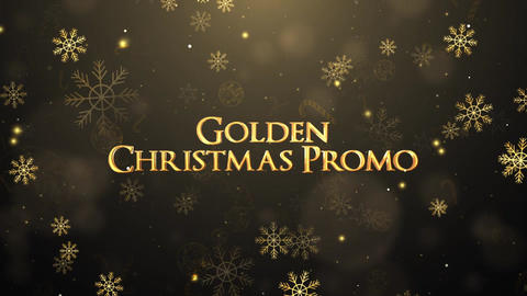 Golden Christmas Promo After Effects Template