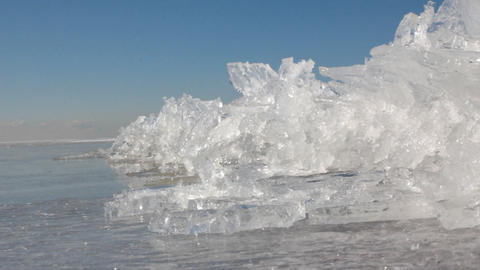 Process of compression of ice on sea, formation of torsos 2 Live Action