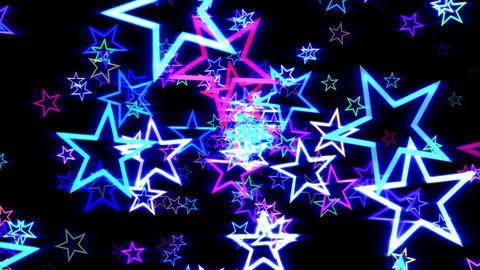 Blue Disco Retro Stars Burst Psychedelic VJ Motion Background Loop rotate light Animación