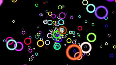 Vibrant Colorful Rings Particles Disco Burst VJ Motion Background Loop 2 Animation