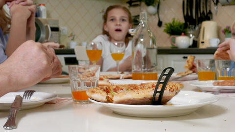 Lunch of Cute Little Kid Girl Live Action