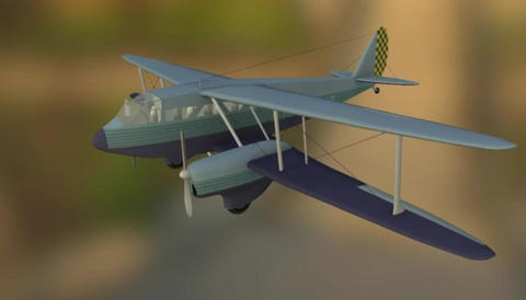 De havilland dh89 dragon rapide 3D Model