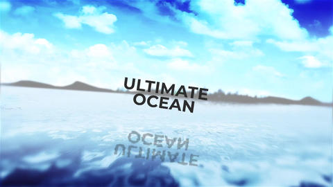 Ultimate Ocean for Credits Apple Motion Template