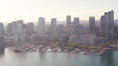 Aerial sequence of toronto canada 7 Live Action