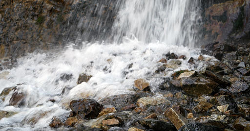 Waterfall in the valley of the Issyk-Ata. Recorded at slow shutter speeds, Kyrgy Footage