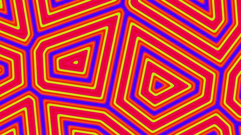 Orange Abstract Turtle Shell Fluid Cells Pattern Retro Motion Background Big CG動画