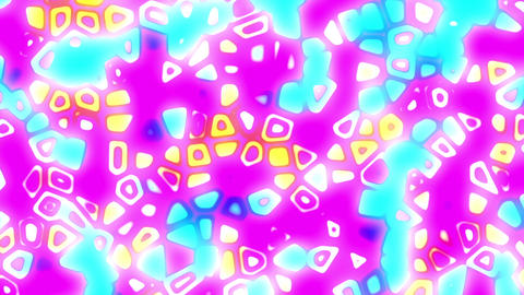 Abstract Psychedelic Bright Retro Colorful Cells VJ Motion Background Loop Small Animation