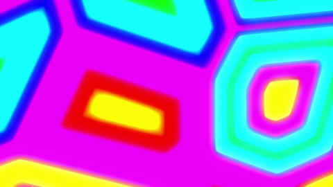 Abstract Psychedelic Bright Retro Colorful Cells VJ Motion Background Loop Big Animation