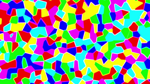 Colorful Liquid Glow Polygons Psychedelic Retro Motion Background Loop Small CG動画