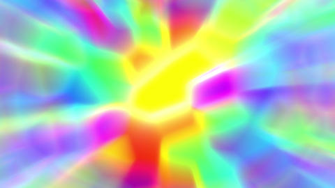 Alien Psychedelic Glowing Polygon Rays Abstract VJ Motion Background Loop Animation