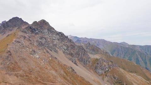 Mountain peaks and pass Shymbulak, Almaty, Kazakhstan Footage