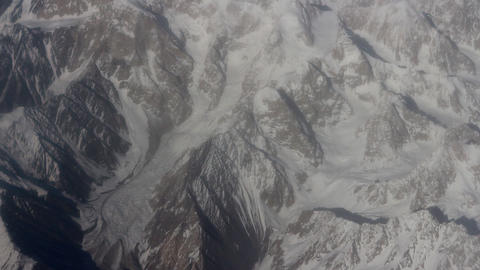 Flight over the highest mountain system of the world - the Karakoram 3 Footage