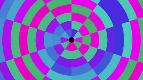 Circular Concentric Colorful Abstract Pattern VJ Motion Background Loop Animation