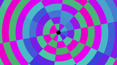 Rotating Circular Concentric Colorful Abstract Pattern VJ Motion Background Loop Animation