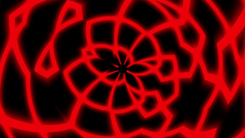 Red Rolling Glowing Symmetry Curves Lines Abstract VJ Motion Background Loop Animation