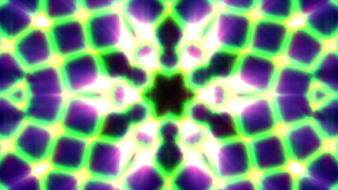 Green Neon Rays Lines Pattern Kaleidoscope Abstract VJ Motion Background Loop Animation