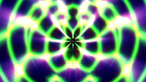 Green Glow Rays Symmetry Curves Lines Abstract Pattern VJ Motion Background Loop Animation