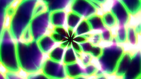 Green Rolling Glow Rays Symmetry Curves Lines Abstract VJ Motion Background Loop Animation